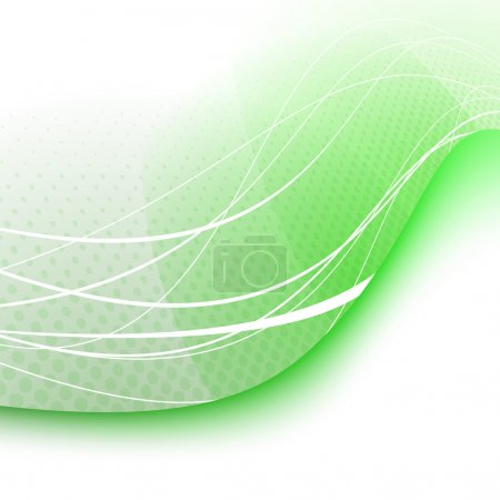 Green swoosh wave background - certificate