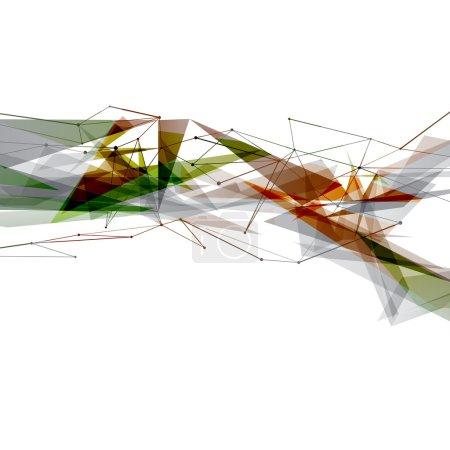 Modern art bright geometrical background