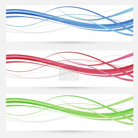Colorful bright web headers lines collection