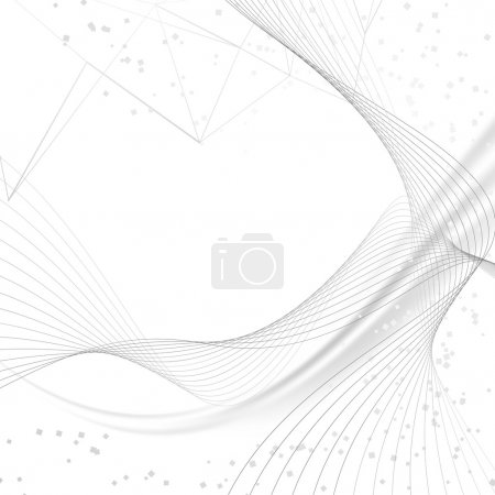 Digital abstraction particle background