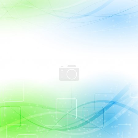 Abstract green blue wind