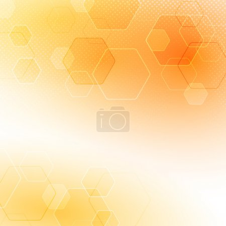 Illustration for Solar abstract hexagon background. Vector illustration - Royalty Free Image