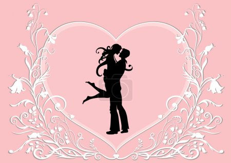 Illustration for Vector Valentine's Day background - Royalty Free Image