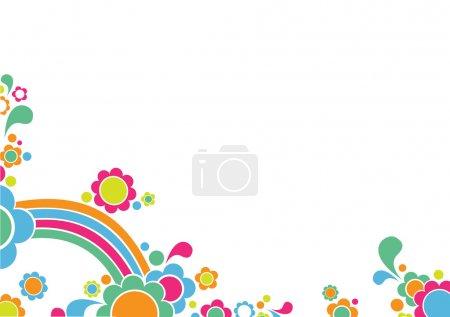 Illustration for Vector illustration of retro Childrens' Background - Royalty Free Image