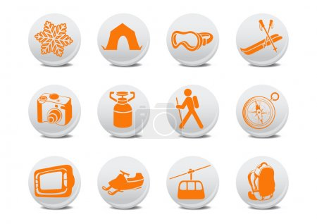 Camping or ski buttons