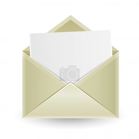 The opened envelope
