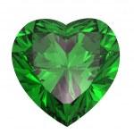 Heart shaped Diamond isolated on a white backgroun...