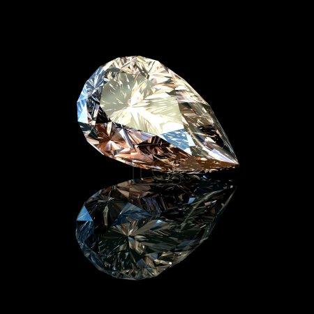 Jewelry gems. Pear.