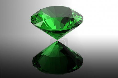 emerald. Jewelry gems roung shape on black background