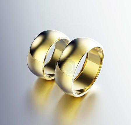 Golden Engagement Ring