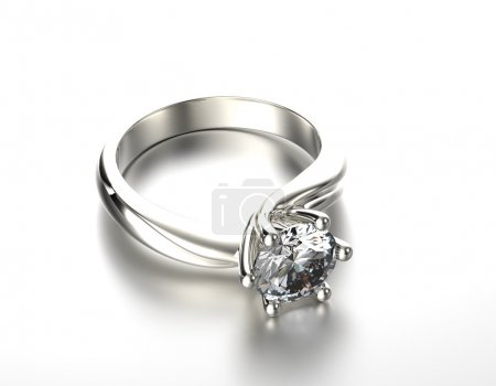 Golden Engagement Ring with Diamond or moissanite.