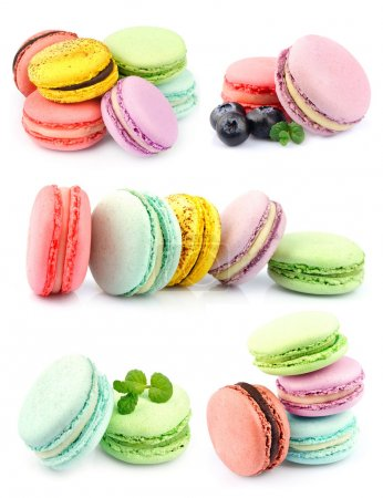 Photo for Set of macaroons . Dessert on white - Royalty Free Image