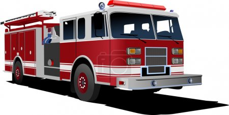 Fire engine ladder isolated on background. Vector illustration