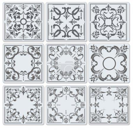 Illustration for Decorative finishing ceramic tiles. vector illustration - Royalty Free Image