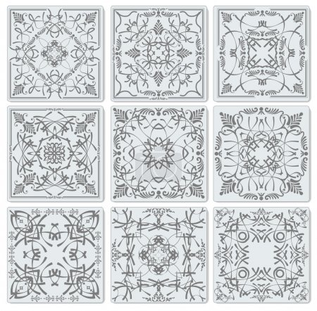 Decorative finishing ceramic tiles