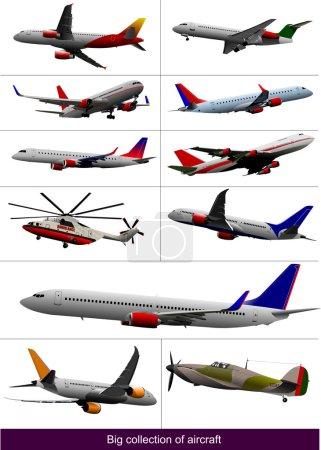 Big set of aircraft.