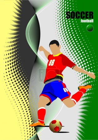 Soccer player poster. Football player.