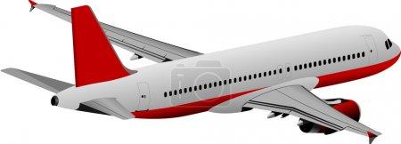 Illustration for Plane colored vector illustration for designers - Royalty Free Image