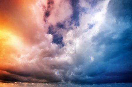 Photo for Sky on sunset. Colorful clouds. Nature composition. - Royalty Free Image
