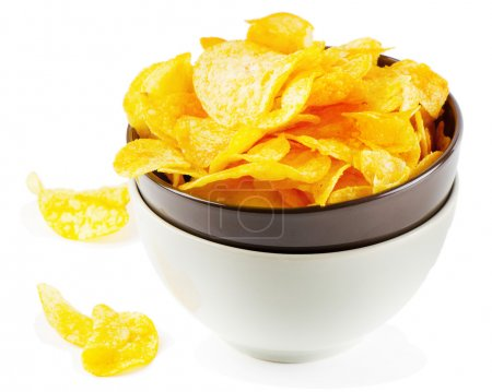 Photo for Potato chips isolated on white - Royalty Free Image