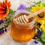 Glass jar of honey...