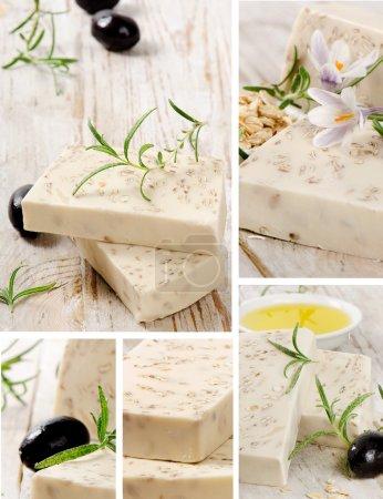 Photo pour Collage de savon artisanal - image libre de droit