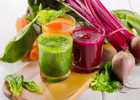 Photo for Healthy vegetable smoothie and juice. Selective focus - Royalty Free Image