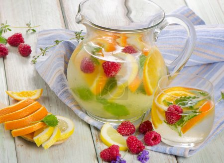 Fruit drink with fresh berries