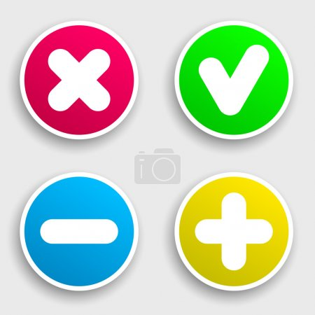 Four colorful sticker