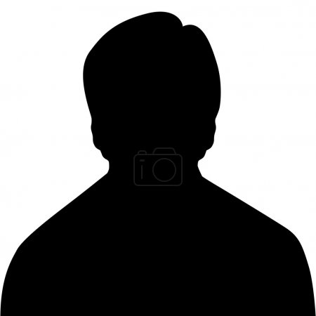 Illustration for Silhouette of a man - Royalty Free Image