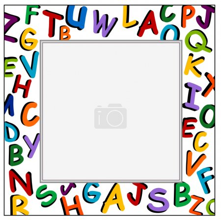 Alphabet Frame on the white background