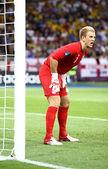 Goalkeeper Joe Hart of England in action