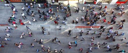 Photo for Top view of crowd of unrecognizable at the Istiklal street in Istanbul, Turkey - Royalty Free Image