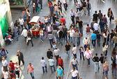 People walking on Istiklal Street in Istanbul