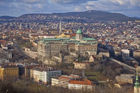 Photo for Aerial view of Buda Castle district, Budapest, Hungary - Royalty Free Image