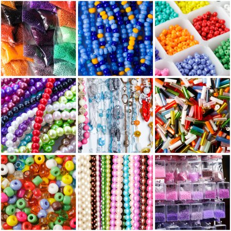 A variety of beads for necklaces