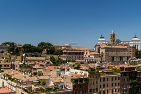 Travel Series - Italy. View above downtown of Rome, Italy.