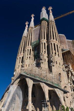 BARCELONA SPAIN - OCTOBER 28: La Sagrada Familia -...