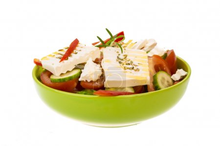 Photo for Greek salad isolated on white - Royalty Free Image