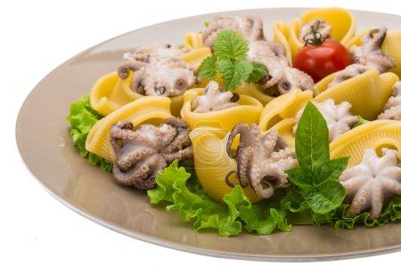 Lumaconi with octopus