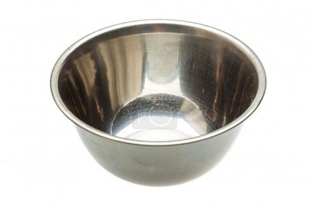 Photo for Metal bowl isolated - Royalty Free Image