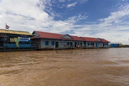 Photo pour Tonle Sap lac au Cambodge - image libre de droit