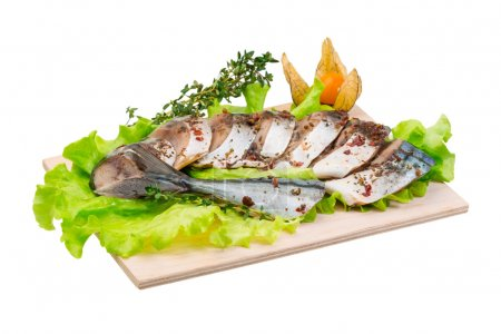 Photo for Mackerels with salad and thyme - Royalty Free Image