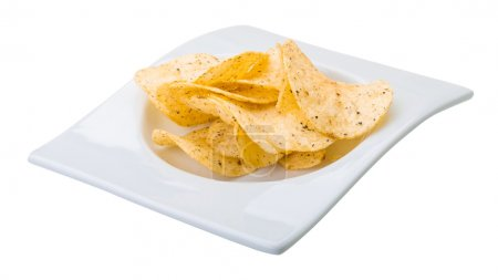 Photo for Potato chips with onion - Royalty Free Image