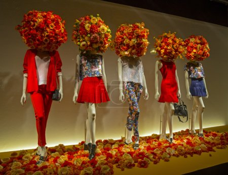 Mannequins in the showcase.