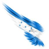 Honduras vlajka na abstraktní křídlo s bílým pozadím