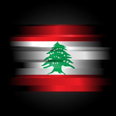 Abstract Flag of Lebanon on black background