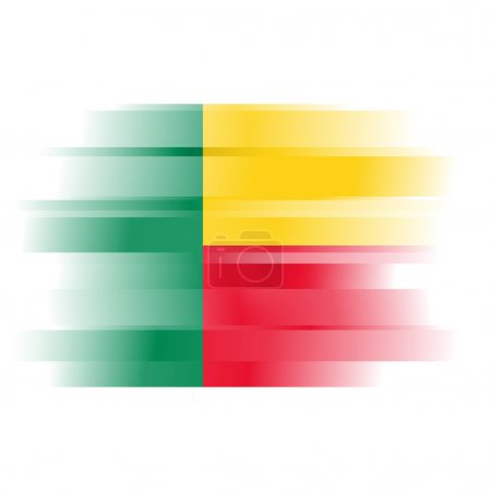 Abstract Flag of Benin on white background