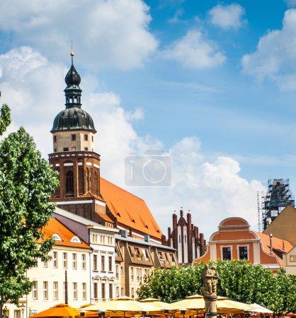 Photo pour Place centrale dans la ville de Cottbus. Allemagne - image libre de droit