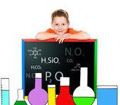 little schoolboy drawn lab